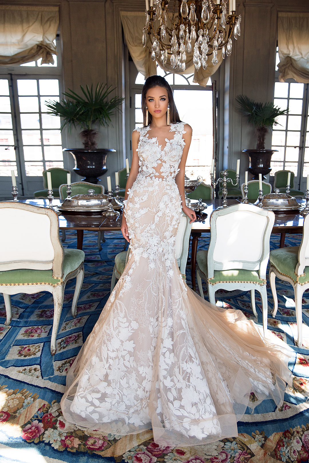 Aora - nudeBlushing Bridal Boutique -MillaNova-once in the palace-lace tulle-haute couture-illusion-bridal-wedding-wedding gown-woodbridge-vaughan-mississauga-toronto-gta-ontario-canada