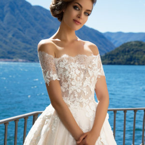 Blushing Bridal Boutique -MillaNova-once in the palace-lace tulle-haute couture-illusion-bridal-wedding-wedding gown-woodbridge-vaughan-mississauga-toronto-gta-ontario-canada