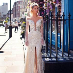 Bonnie, Milla Nova, Blooming London, Blushing Bridal Boutique, Toronto, Canada, USA